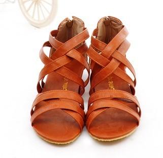new arrival straps women sandals flat heel fashion design female summer shoes sandal for woman plus size 34-42 free ship