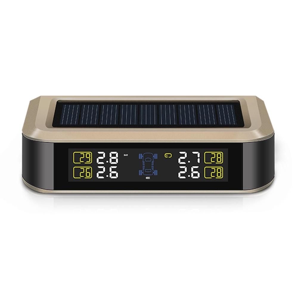 Solar TPMS Tire Pressure Monitoring System Solar USB Charge Internal Sensor Intelligent Monitor Display tire pressure and temper