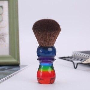 Image 4 - Yaqi 26 Mm Regenboog Bruin Synthetisch Haar Scheren Borstels
