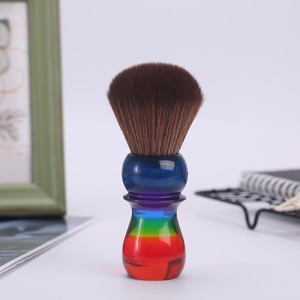 Image 4 - Yaqi 26mm Rainbow Brown Synthetic Hair Shaving Brushes