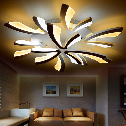 Art Deco LED ceiling lamp Creative Modern LED Ceiling light Bedroom Living Room Acrylic LED ceiling light 110-240V modern fopyer hall bedroom living room led ceiling lamp creative fashion led ceiling light luck ring series 8 heads page 8