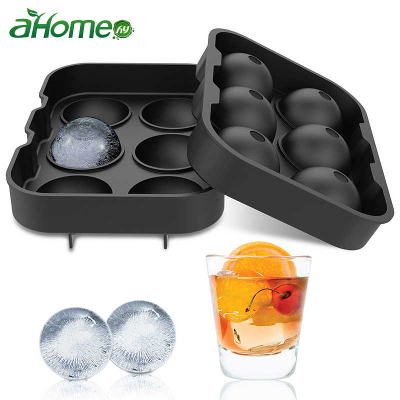 6 Grids Ice Cubes Molds Ice Cream Tubes Whiskey Ice Ball Brick Round Bar Accessiories