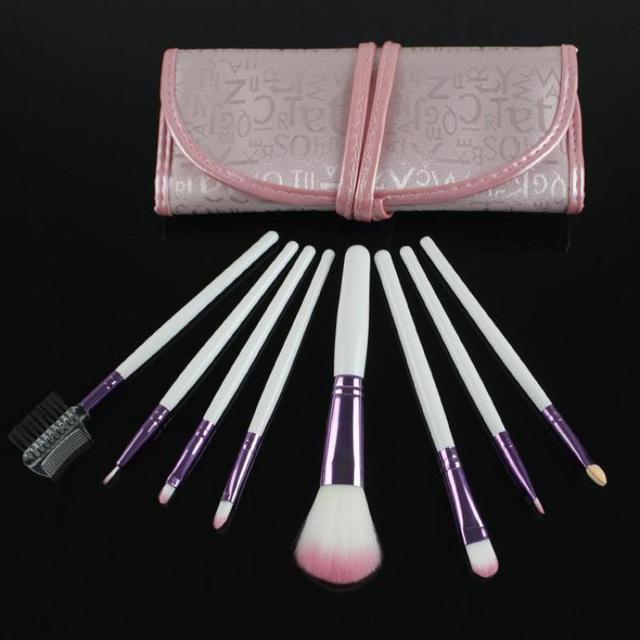 8 Pçs/set Maquiagem Rosa Brushes Set Para Mulheres Moda Completa Professional Cosméticos Make Up Brush Define & Kits + Saco alta Qualidade Venda Quente