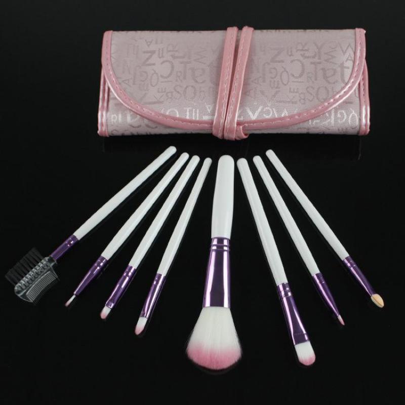 8pcs Set Pink Makeup Brushes Set For Women Fashion Full Professional Cosmetic Make Up Brush Sets