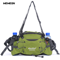 Outdoor Hiking Running Bag Sport Waist Pack Travel Handy Single Shoulder Chest Pack with Bottle Holder Camping Riding bolsa