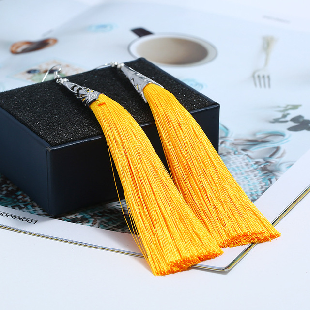 Lzhlq 2 пары серьги с кисточками для женщин