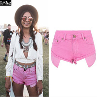 Cultiseed Women Pink Denim Jeans Shorts Female Summer Sexy Low Waist Jeans Short Ladies Casual Holiday Denim Shorts