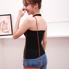 Big Size Women Camisoles Halter Female Summer Sexy Vest Cotton Sleeveless Fitness Black Leisure Casual Solid Ladies Tank Tops