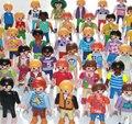 10 Unids/lote 5 cm Original Alemania Playmobil figura de acción de Juguete bloques al azar niños juguetes colección de JUGUETE de regalo de Navidad
