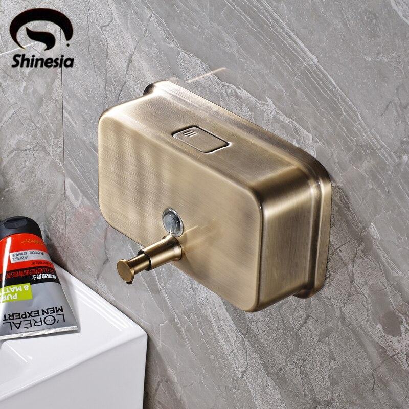 High Quality Antique Bronze Hand Soap Dispenser Bathroom Liquid Soap Dispenser 1000ml