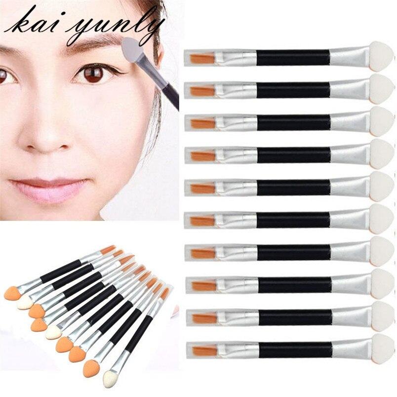 10PCS Makeup Brushes Tool Sponge Applicator Double-end Eye Shadow Eyeshadow Eyeliner Lip Brush Cosmetic Beauty wholesale Aug 10