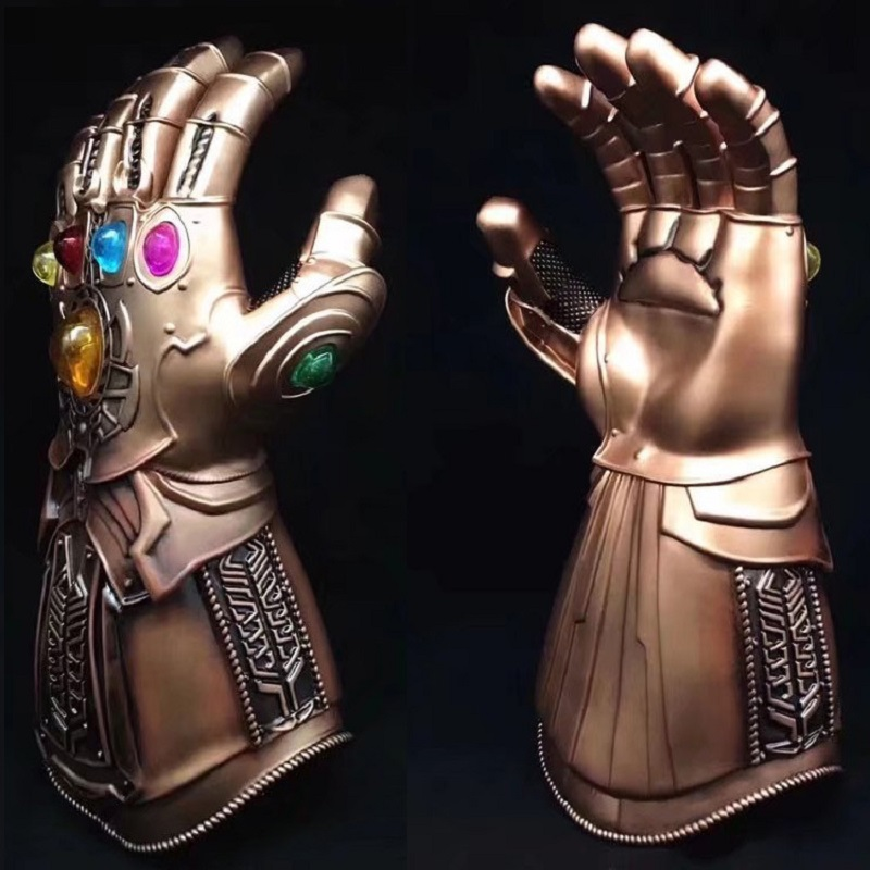 The Avengers 3 Thanos Infinity Gauntlet with Led Light Cosplay Action Figure Toys Glove Gift Infinity War Halloween Accessory 1 1 the avengers iron man updated gauntlet glove led light left right hand new with retail box