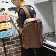 Tidog Korean retro crazy horse leather hand bag backpack