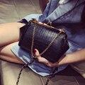 2017 Crocodile chain for fashion clip bag mini mobile phone bag messenger women's handbag