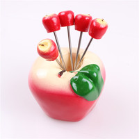4 pc מזון קינוח מזלג פרי תפוח Creative כלי שולחן סט סכו