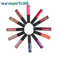 12 renkler/set popfeel ruj uzun ömürlü su geçirmez mor kahverengi ruj kozmetik makyaj mat solmaz