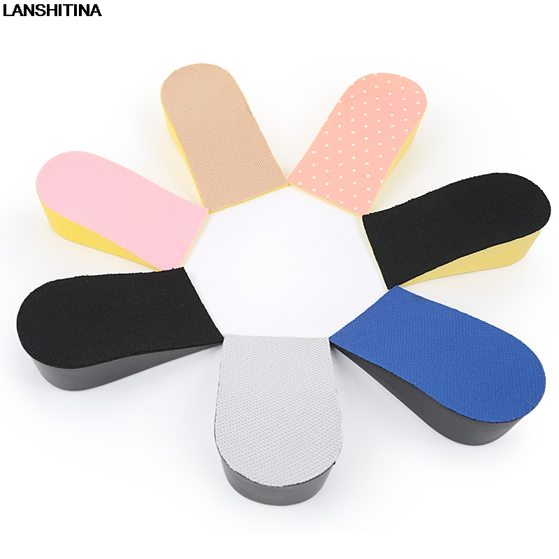 Height Increase Insole Heel Inserts Breathable Insoles Shock Absorbing Insoles Pu Shoe Pad Palmilha Altura Inlegzolen 15-35mm
