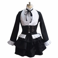 2018 Fairy Tail Cosplay Erza Scarlet Witch Halloween Lolita Housemaid Costume