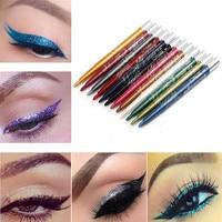 Hot Women's Fashion 12 Colors Long-lasting Eye Shadow Eyeliner Lip Liner Pen Bright Makeup Beauty Wholesale & Drop Shipping Eye