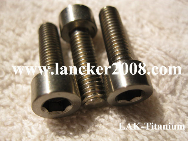 <font><b>M8x15</b></font> Gr5 hexagon socket cap head titanium alloy screw DIN912 image
