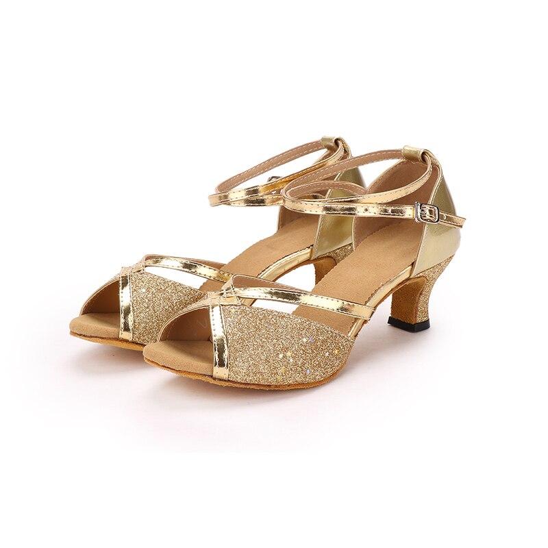 d37024f8d51 Women s Girl s Sandals Modern  Latin ballroom Glitter Dance Shoes 5cm Heel  Gold Silver Purple free shipping