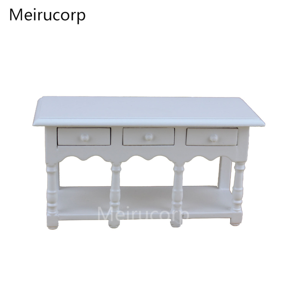dolls house1/12th Scale Miniature white kitchen table