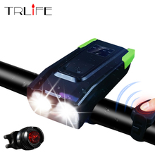Smart Headlight USB Rechargeable Bicycle Front Light Set 4000mAh Induction Bike light With Horn LED Lamp Cycle bike