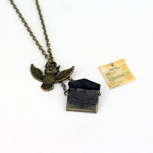 Harry Potter Necklace Pendant Envelope Owl Admissions Notification