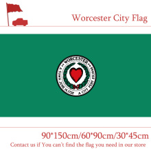 Free shipping Worcester City Flag Of Massachusetts State 90*150cm 60*90cm 30*45cm Car Custom 3x5ft 100d Polyester