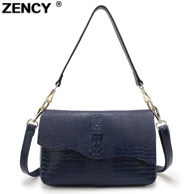 2019 Alligator Pattern Fashion 100 Genuine Leather Women s Shoulder Bags Female Small Handbag Ladies Cross
