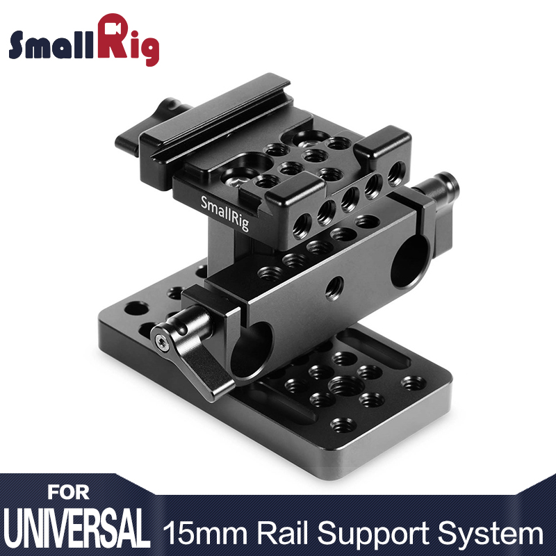 SmallRig Dual Aluminum Camera Quick Release Plate 15mm Rail Support System Baseplate ( Arca Swiss Style ) -1687