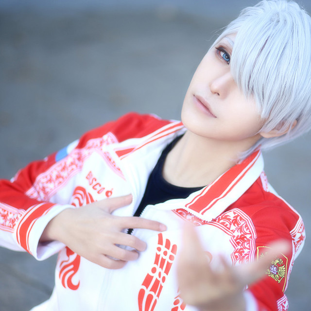 9f3ea76708ba8 Nowy Anime Yuri na lodzie Cosplay Costume Victor nikifora Sport garnitur  pełny zestaw + peruka Halloween