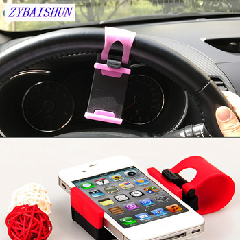 Universal Car steering wheel mobile phone GPS bracket for Peugeot 206 207 208 301 307 308 407 2008 3008 4008 image