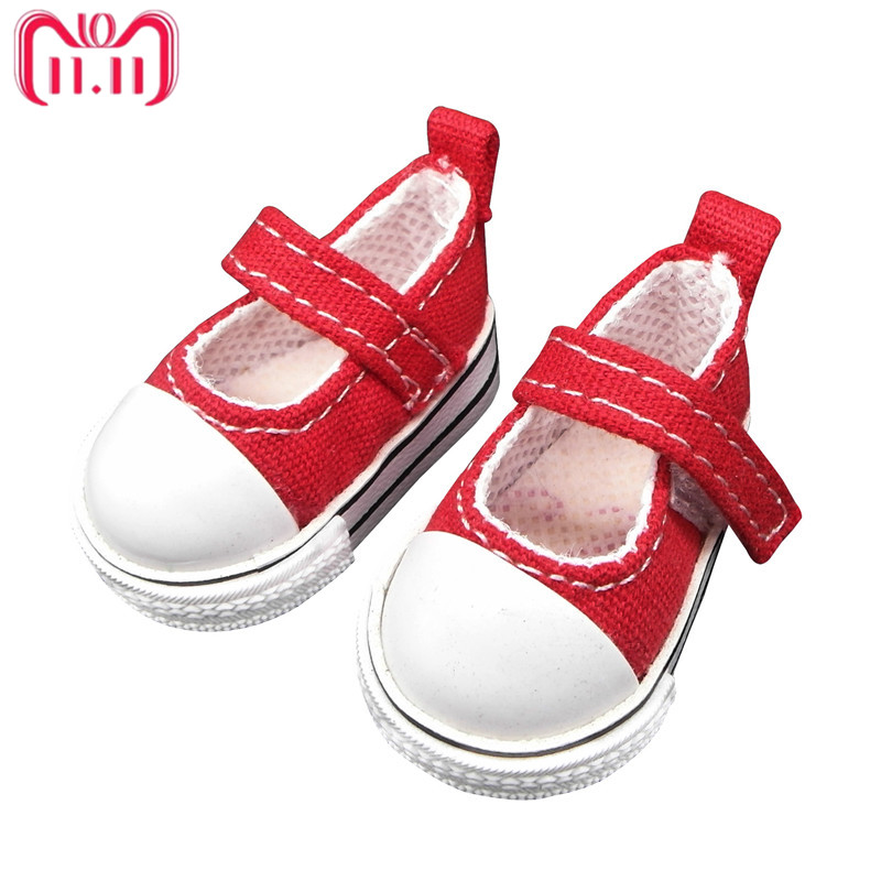 Tilda 6cm Toy Shoes For Doll Paola Reina,Fashion Sneakers for Dolls,1/3 Bjd Toy Footwear Shoes for Corolle Accessories for Dolls canvas shoes for paola reina doll fashion mini toy gym shoes for tilda 1 3 bjd doll footwear sports shoes for dolls accessories