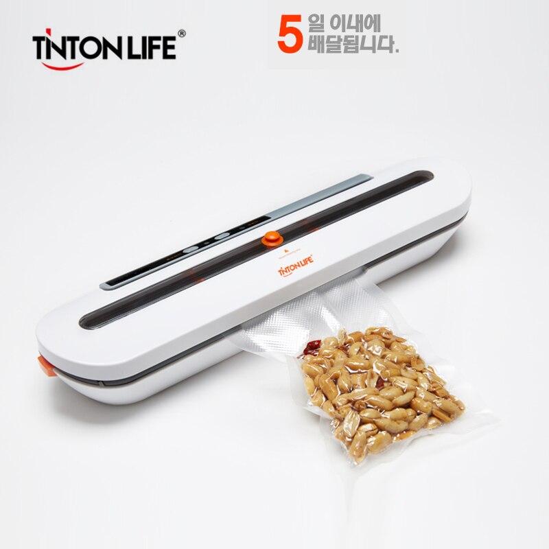 TINTON vida sellador al vacío de alimentos máquina de embalaje con 10 piezas gratuito de alimentos al vacío máquina de sellado de sellador de vacío Packer