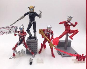 5pcs set Ultraman Leo Astra Ultraman Geed Magma seijin SHODO action figure toy vs5