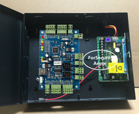 Network Web Access Two Doors 2 ways Network Wiegand Access Control Board With Metal Power Supply Box