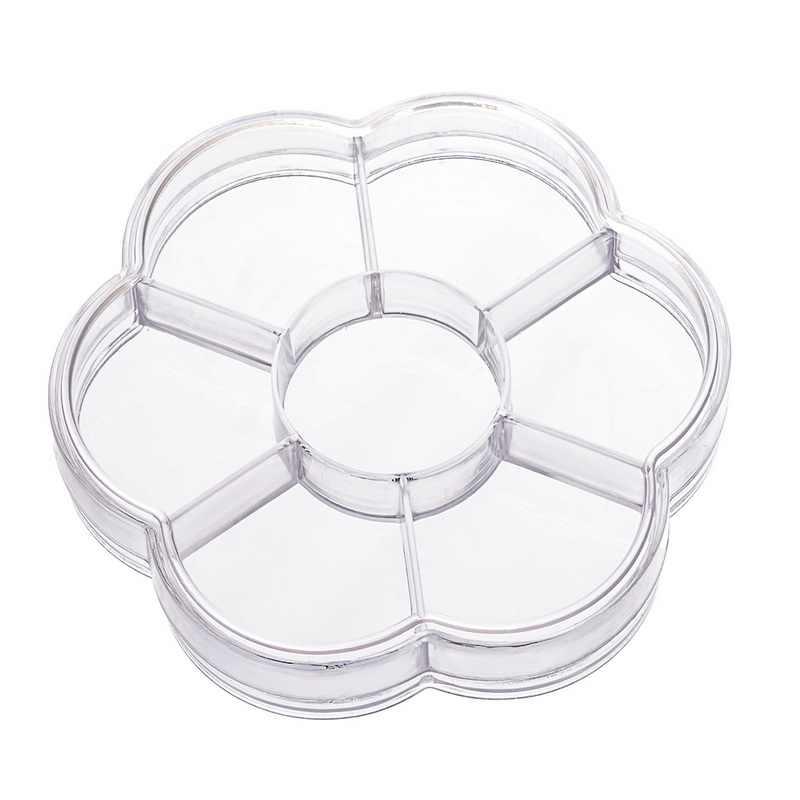 Junejour 1 шт. коробка для ювелирных изделий бусины таблетки лак для ногтей доска коробка для хранения лекарств кобура прозрачный пластиковый офисный Органайзер
