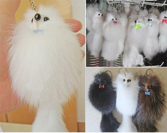 New Arrive Big Sale Fur fox pendant bags pendant keychain mink real fur  hangings mobile phone chain wholesale free shipping 7ccaeb635da8