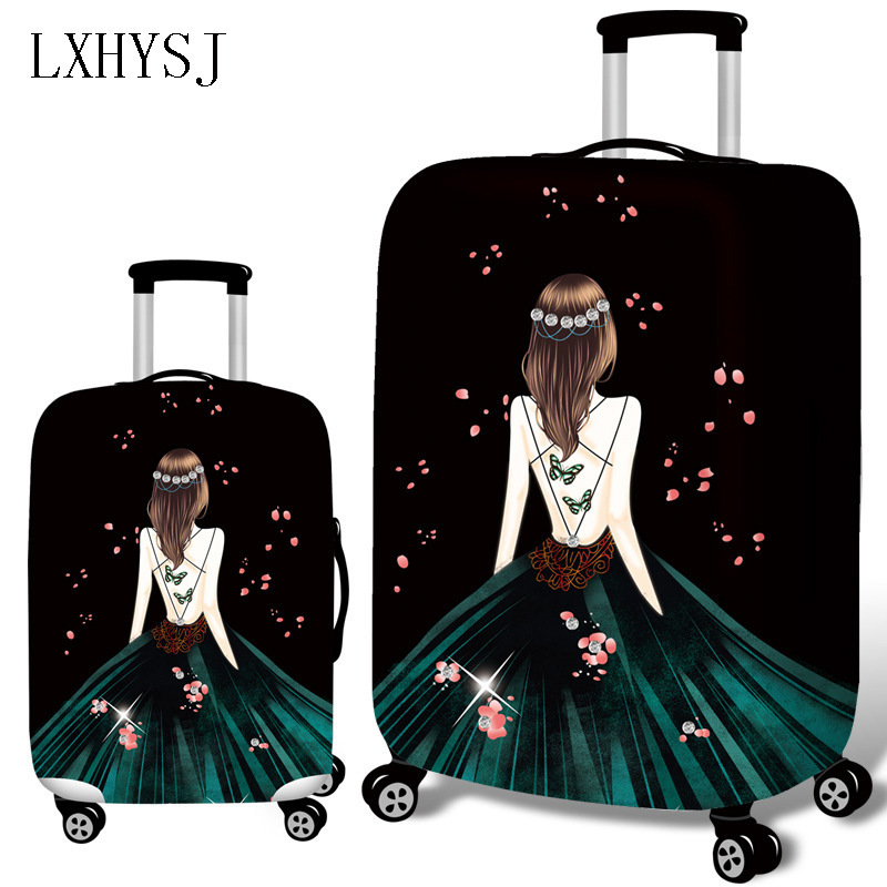 3D Wedding Dress Luggage Cover Elastic Luggage Protective Covers Suitable For 18-32 Inches Suitcase Case Travel Accessories