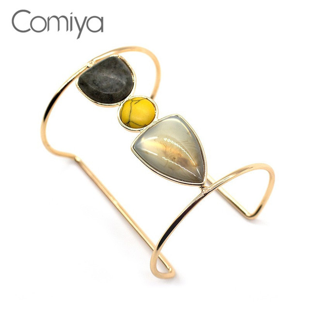 Comiya Indian Jewelry Synthetic Stone Mosaic Bangles For Women Summer New  Opening Cuff Bangle Christmas Gifts Aliexpress-in Charm Bracelets from