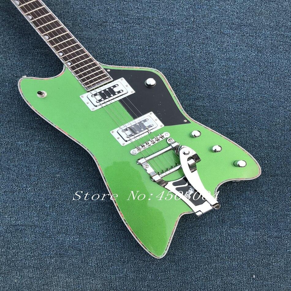 Guitare électrique thunderbird de haute qualité, serging celluloïd, vraies photos, livraison gratuite des activités promotionnelles peuvent offre spéciale personnalisée!