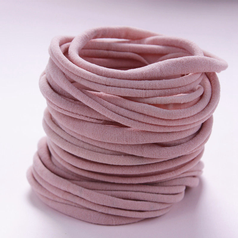 Nude Nylon Baby Headbands Nylon Elastic One Size Fits All Super Soft Thin Stretchy Bulk DIY Craft Supply Baby Shower 10PC HB388D
