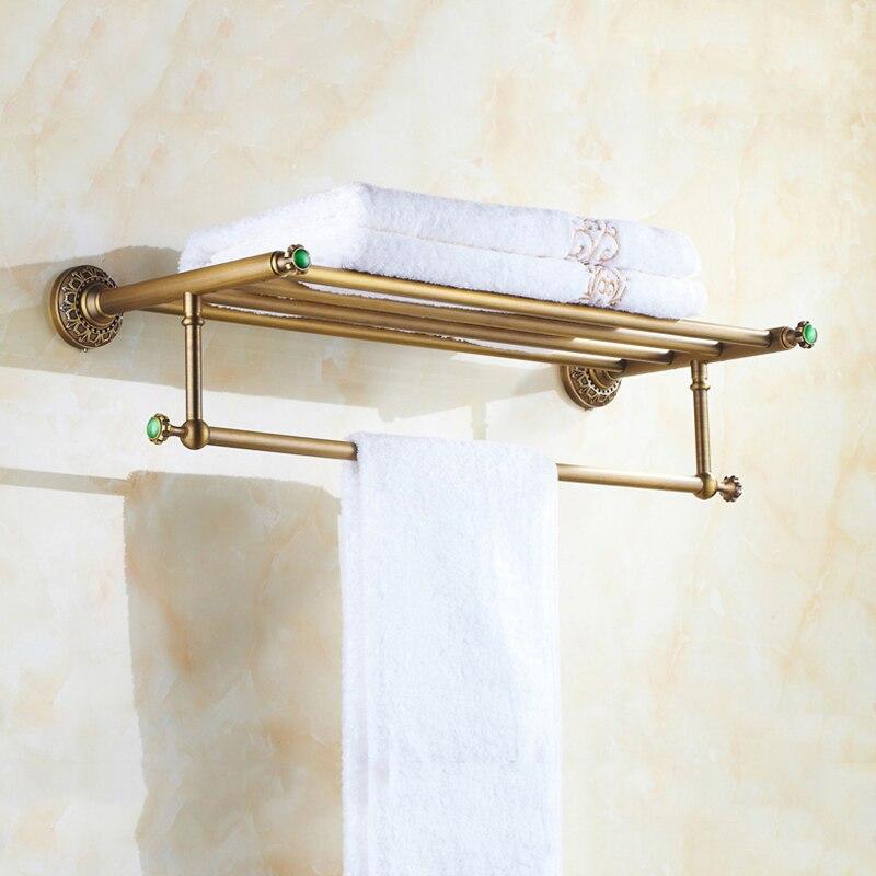 Bathroom Shelves Wall Mounted Towel Rack/Bars Bath Towel Carved ...