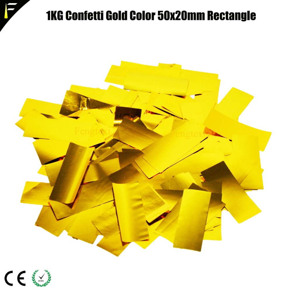 Golden Silver 4KG Confetti Paper For Stage Confetti Rainbow Machine In Wedding Colored Paper Gun Salute Machine Dedicated