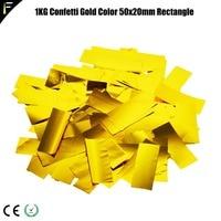 Golden Silver 4KG Confetti Paper For Stage Confetti Rainbow Machine in Wedding Colored Paper Gun Salute Machine Dedicated