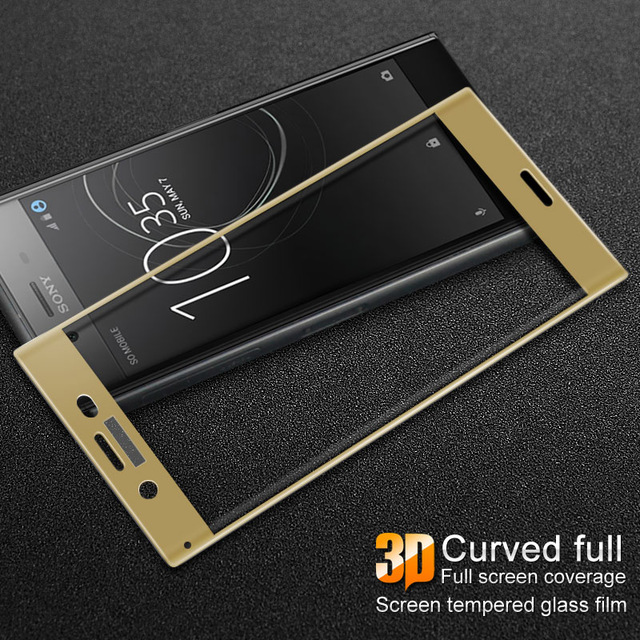 GXE 3D Curved Full Cover Tempered Glass Protector For Xperia XZ1 Compact Screen Protector Film For Sony Xperia XZ Premium XZP