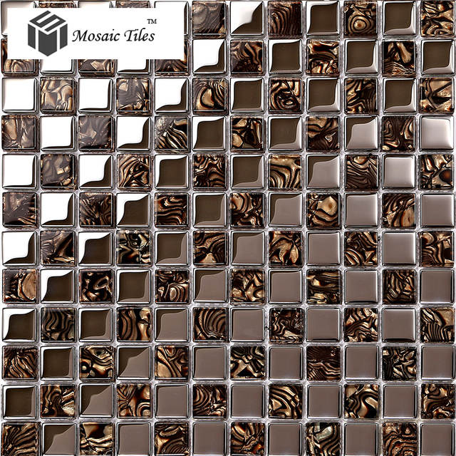 TST Glass Metal Tile Amazing glass Mosaics Tiels Kitchen ...