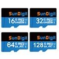 SunDigit Micro SD Card 32GB Class 10 16GB/64GB/128GB Class10 UHS-1 TF Memory Card Flash Memory Microsd for Smartphone Camera