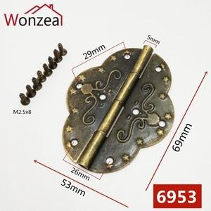 4pcs 69x53mm Antique Bronze Hi